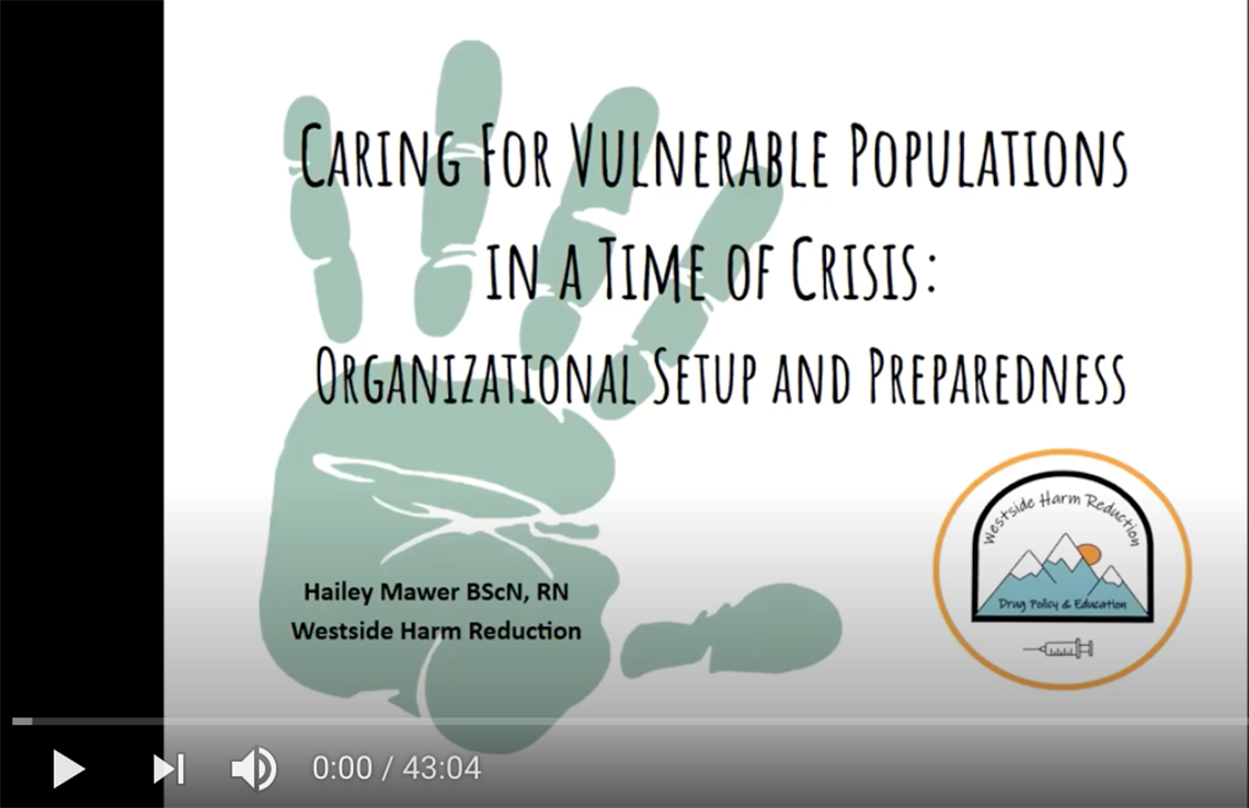 Opening slide for Vulnerable Populations webinar